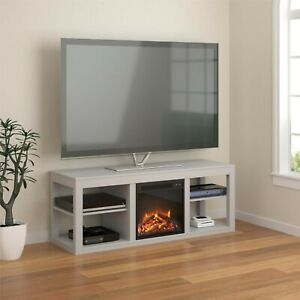 """Ameriwood Home Tv Stand Electric Fireplace 65 Storage Throughout Fashionable Ameriwood Home Rhea Tv Stands For Tvs Up To 70"""" In Black Oak (View 9 of 15)"""