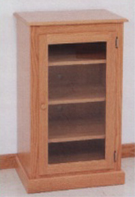 Amish Made, Solid Oak Audio Cabinet – Clayborne'S Of Sc With Regard To Trendy Tv Stands 38 Inches Wide (View 8 of 15)