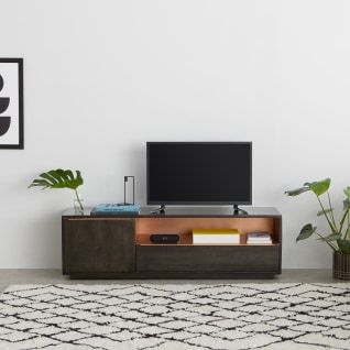 Anderson Compact Tv Stand, Mango Wood And Brass (View 13 of 15)