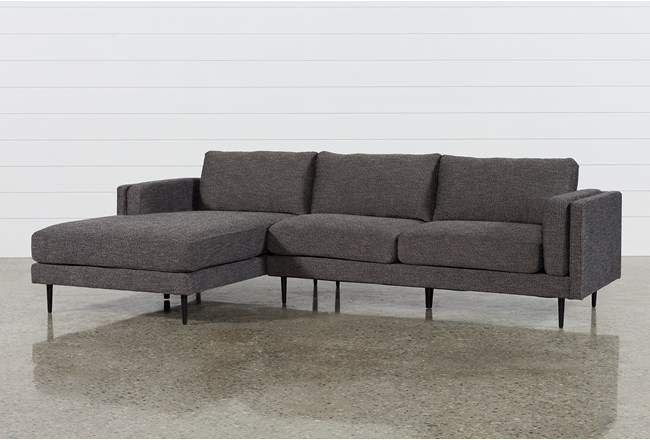 Aquarius Dark Grey 2 Piece Sectional W/Laf Chaise – 360 For Aquarius Light Grey 2 Piece Sectionals With Laf Chaise (View 1 of 15)