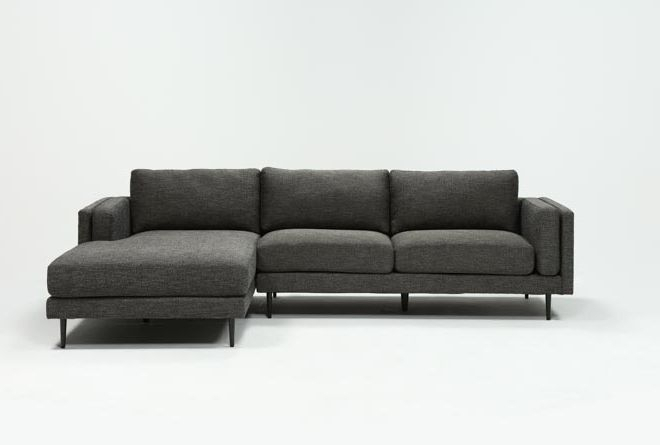 Aquarius Dark Grey 2 Piece Sectional W/Laf Chaise   Living In Aquarius Light Grey 2 Piece Sectionals With Laf Chaise (View 14 of 15)