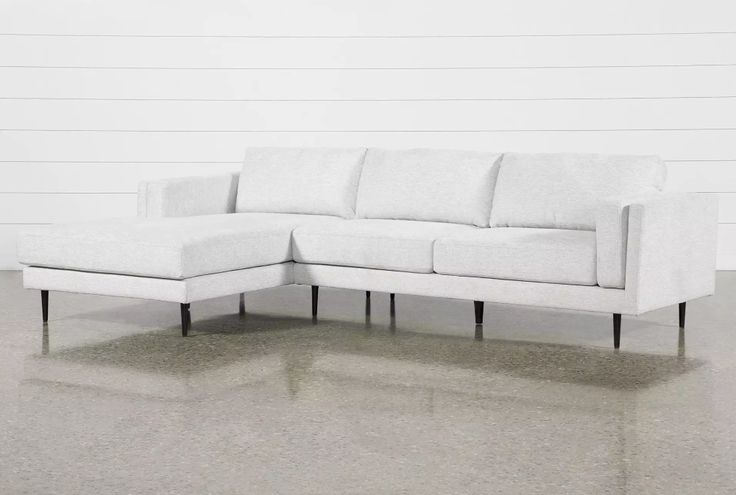 """Aquarius Ii Light Grey 2 Piece 120"""" Sectional With Left With Aquarius Light Grey 2 Piece Sectionals With Laf Chaise (View 5 of 15)"""