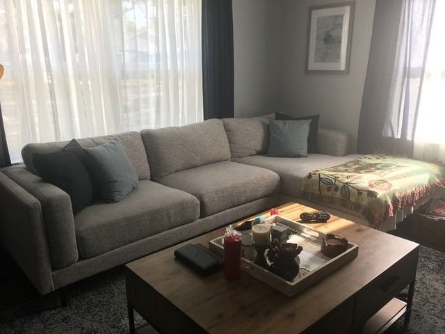 Aquarius Light Grey 2 Piece Sectional W/Raf Chaise Inside Aquarius Light Grey 2 Piece Sectionals With Laf Chaise (View 10 of 15)