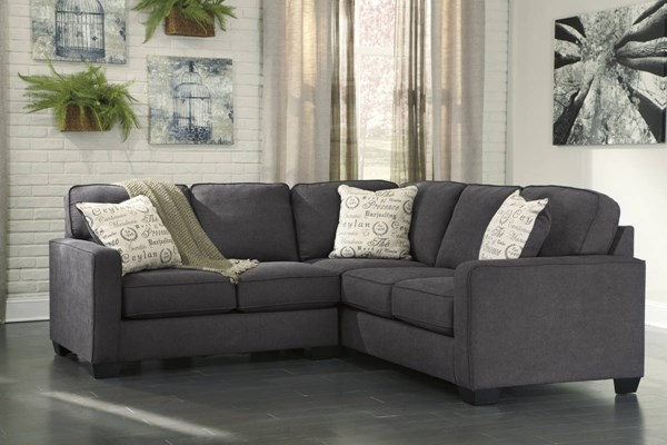 Ashley Furniture Alenya Charcoal Laf Loveseat And Raf Sofa In Turdur 2 Piece Sectionals With Laf Loveseat (View 13 of 15)