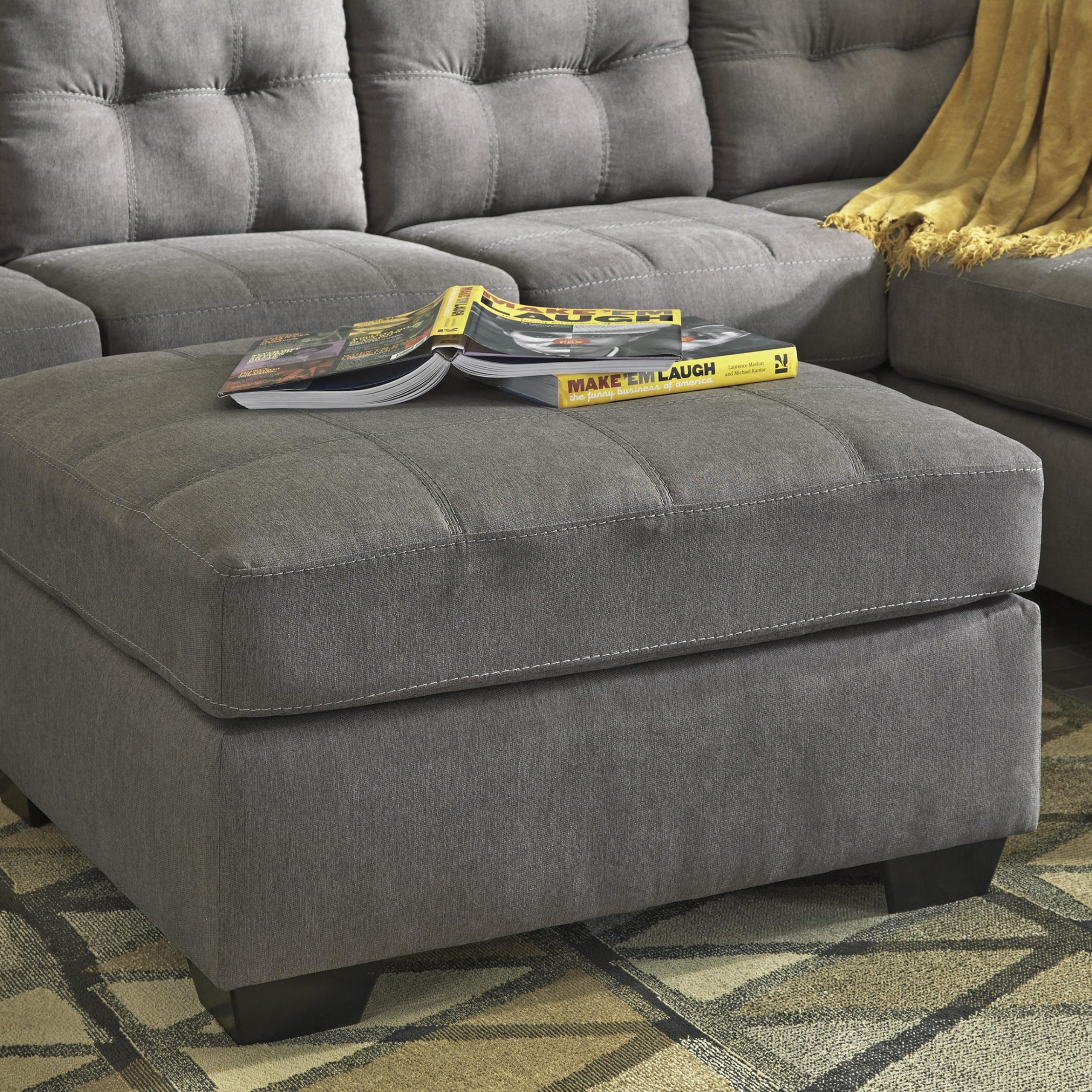 Ashley Maier 3 Piece Sectional In Charcoal Raf (45200 66 With Avery 2 Piece Sectionals With Raf Armless Chaise (View 7 of 15)