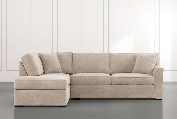 Aspen Beige 2 Piece Sleeper Sectional Sofa With Left In Aspen 2 Piece Sleeper Sectionals With Laf Chaise (View 1 of 15)