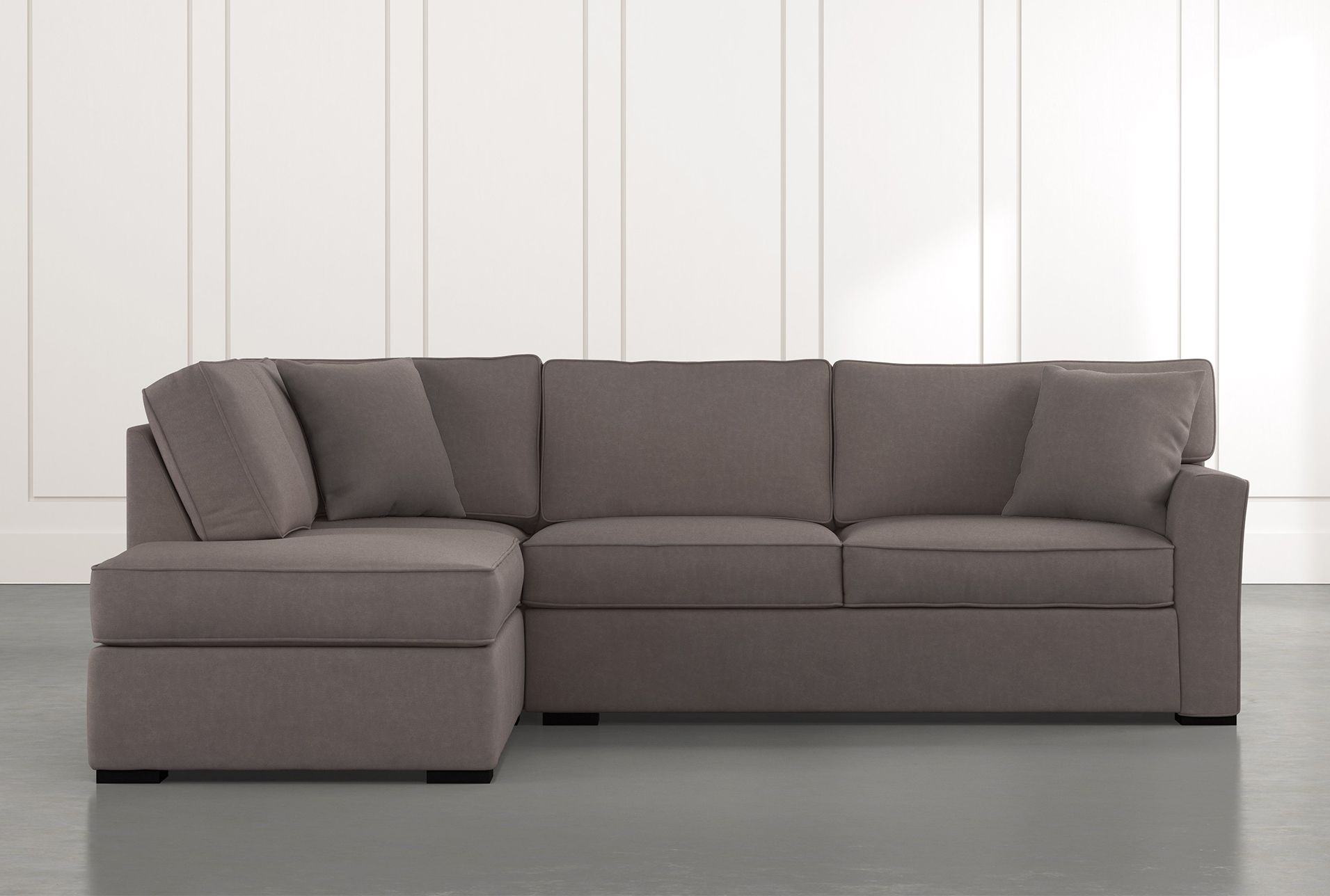Aspen Dark Grey 2 Piece Sleeper Sectional With Left Arm Inside Aspen 2 Piece Sleeper Sectionals With Laf Chaise (View 5 of 15)