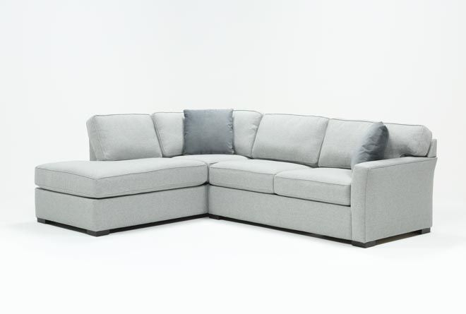 Aspen Tranquil Foam 2 Piece Sleeper Sectional Sofa With Inside Aspen 2 Piece Sleeper Sectionals With Laf Chaise (View 6 of 15)