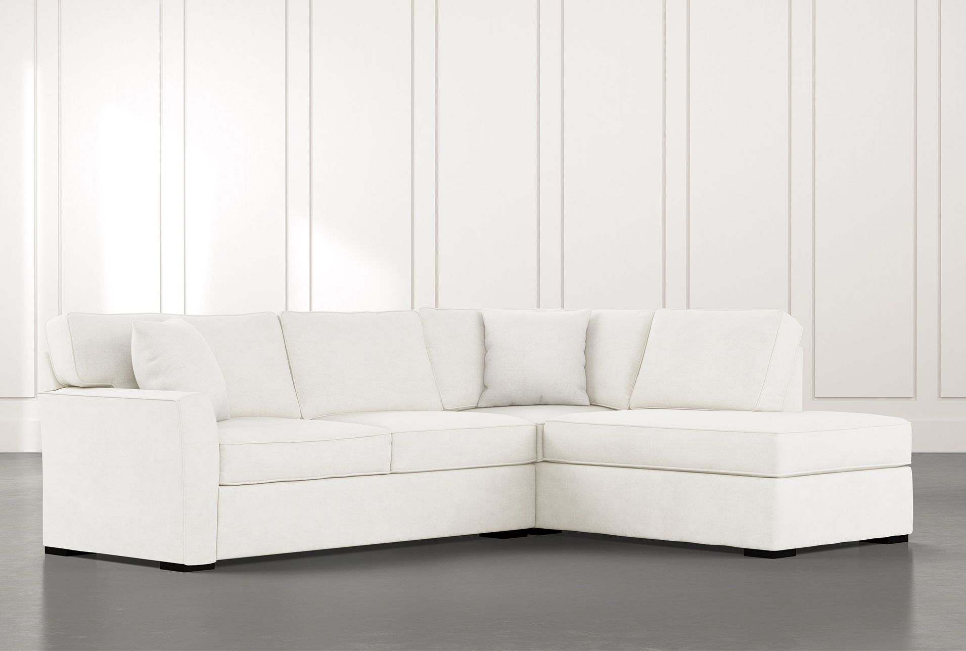 Aspen White 2 Piece Sleeper Sectional With Raf Chaise | 2 With Regard To Aspen 2 Piece Sleeper Sectionals With Laf Chaise (View 14 of 15)