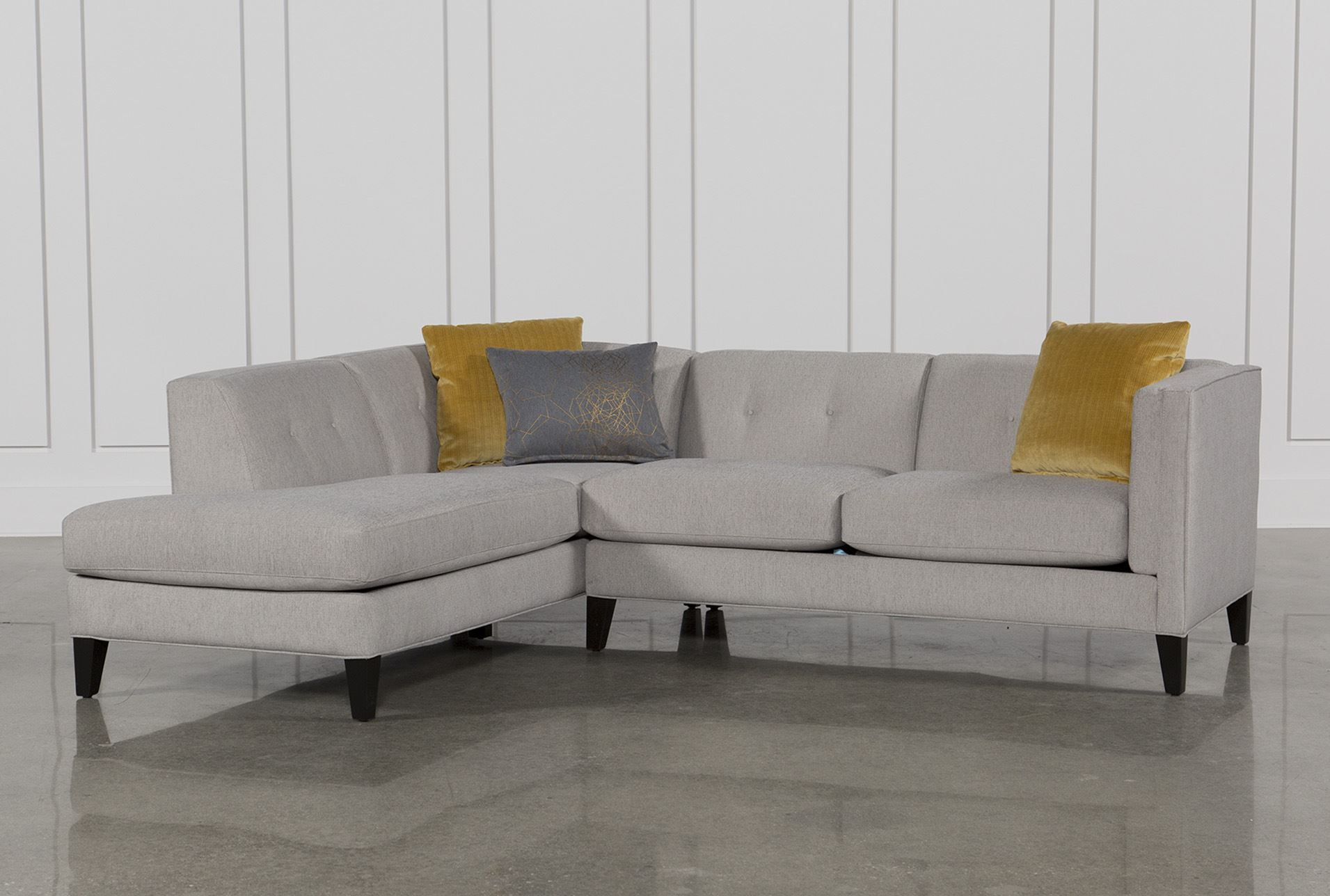 Avery 2 Piece Sectional   Small Sectional Sofa, Small In Avery 2 Piece Sectionals With Laf Armless Chaise (View 11 of 15)