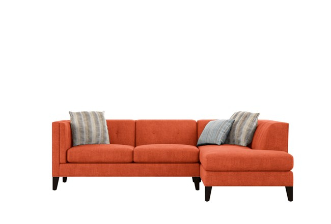 """Avery Ii 2 Piece 103"""" Sectional With Right Facing Armless Inside Avery 2 Piece Sectionals With Raf Armless Chaise (View 5 of 15)"""