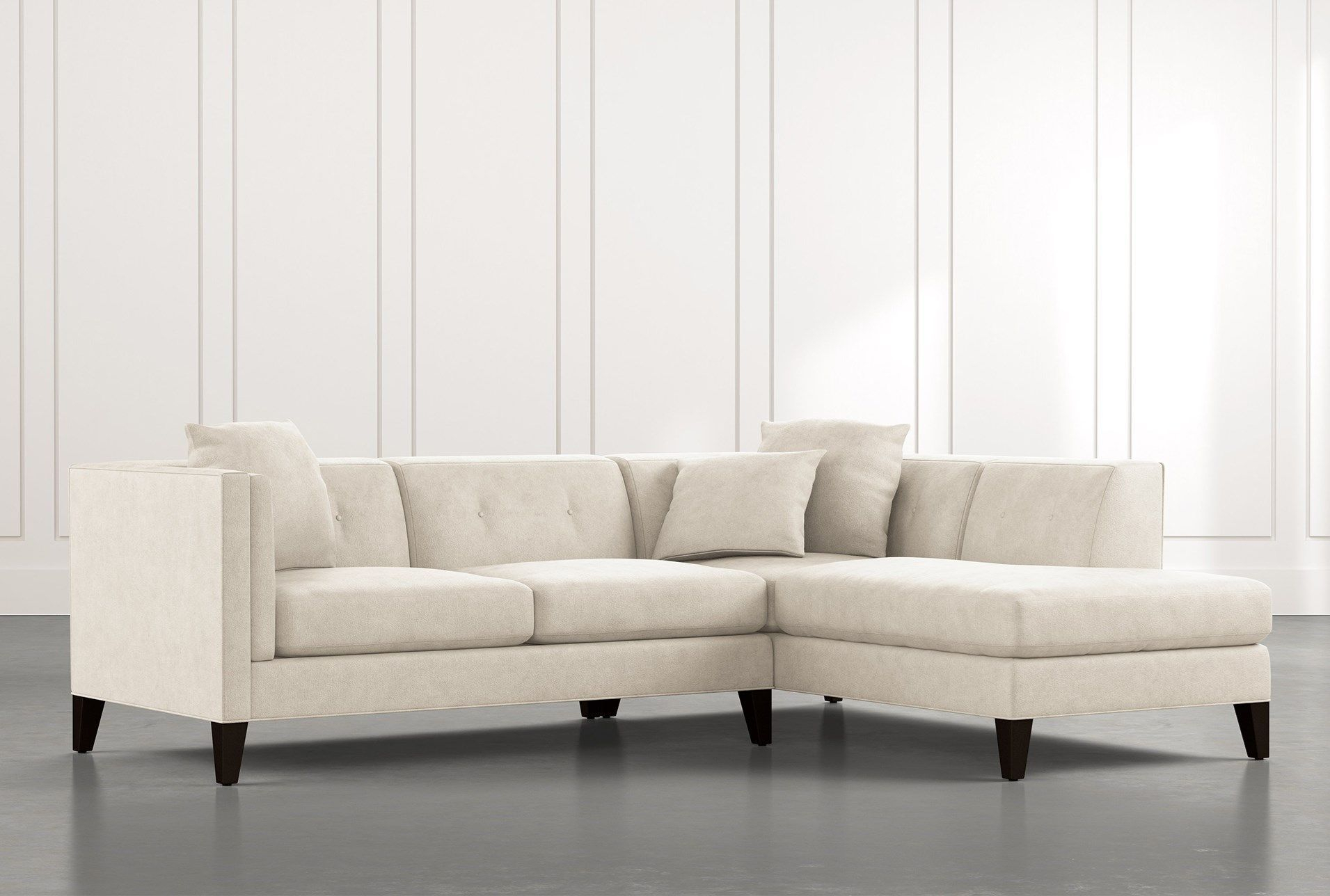 Avery Ii Beige 2 Piece Sectional Sofa With Right Arm Inside Avery 2 Piece Sectionals With Laf Armless Chaise (View 5 of 15)