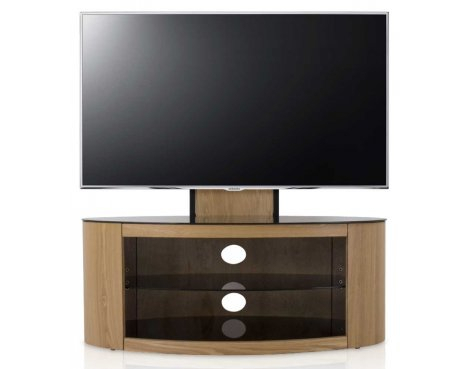 Avf Buckingham Oval Cantilever Tv Stand Rounded Round For Intended For Best And Newest 57'' Led Tv Stands Cabinet (View 4 of 15)