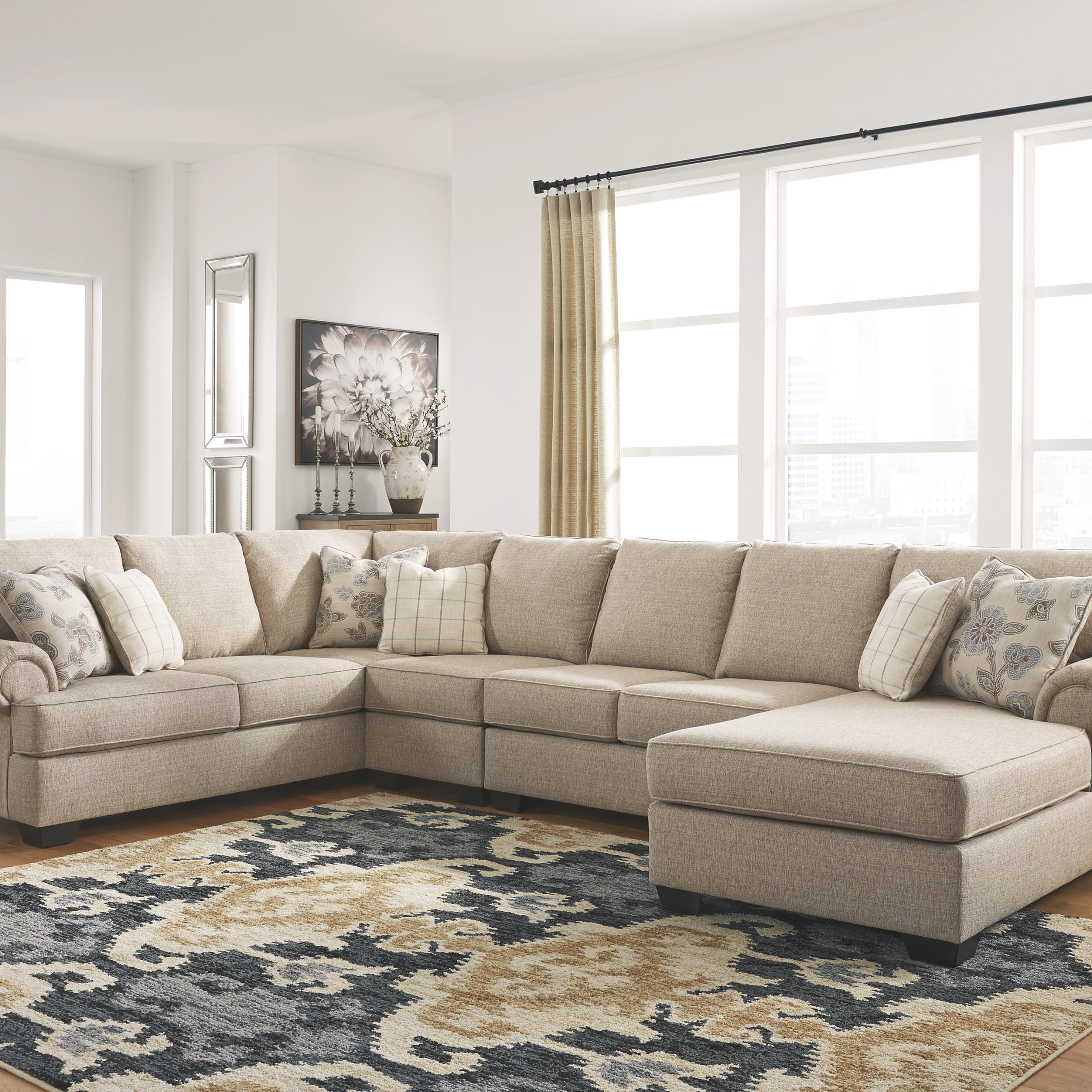 Baceno 4 Piece Sectional With Chaiseashley Furniture For Benton 4 Piece Sectionals (View 3 of 15)