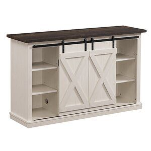"""Barn Door Tv Stand For Recent Jaxpety 58"""" Farmhouse Sliding Barn Door Tv Stands In Rustic Gray (View 15 of 15)"""