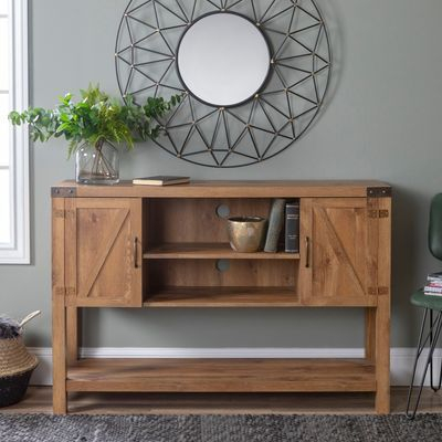 Barn Door Tv Within Best And Newest Walker Edison Contemporary Tall Tv Stands (View 10 of 15)