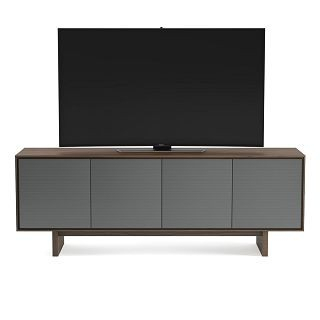 Bdi Octave 8379 Toasted Walnut Tv Cabinet W/ Steel Doors Within Famous Walnut Tv Cabinets With Doors (View 11 of 15)
