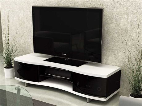 Bdi Ola 69'' X 21'' Chocolate Stained Walnut Triple Wide Throughout Well Known Enclosed Tv Cabinets With Doors (View 11 of 15)