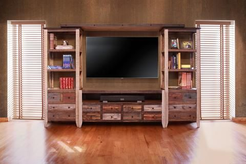 Beautiful Solid Wood Tv Stand And Piers With A Hand Rubbed With 2018 Entertainment Center Tv Stands Reclaimed Barnwood (View 10 of 15)