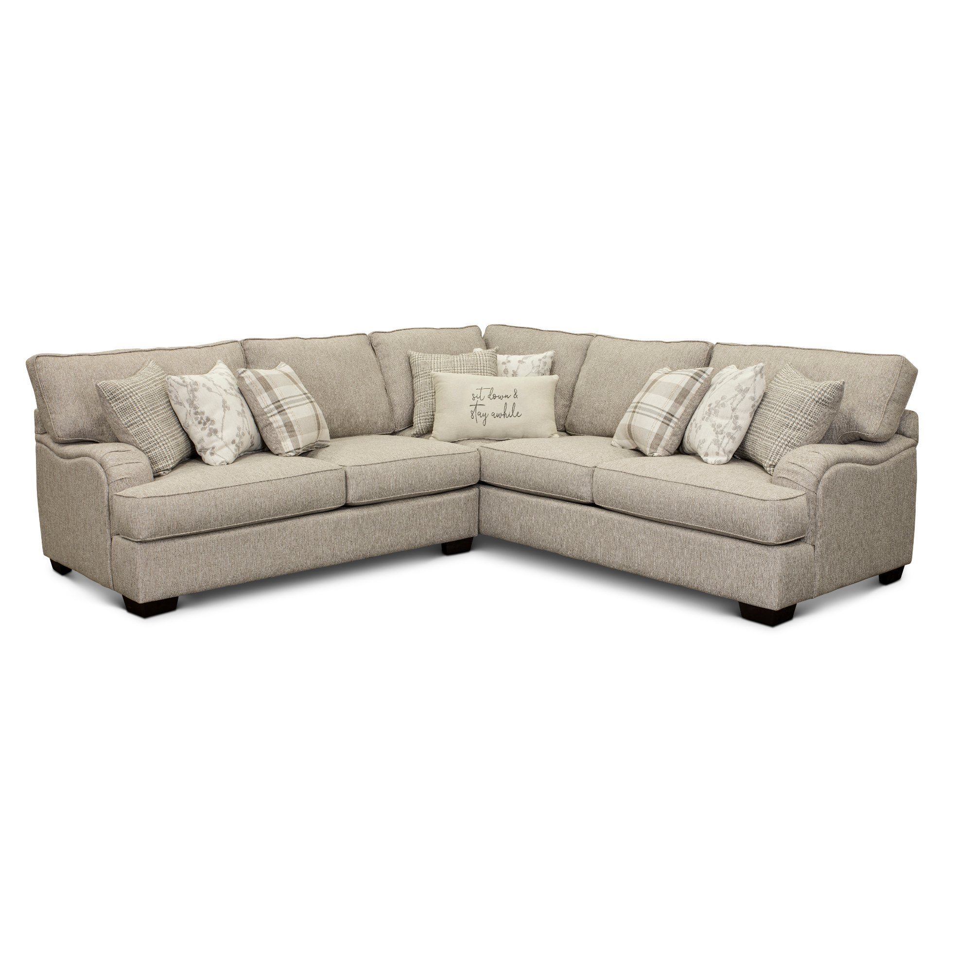 Beige 2 Piece Sectional Sofa With Laf Loveseat – Celadon Pertaining To Turdur 2 Piece Sectionals With Laf Loveseat (View 10 of 15)