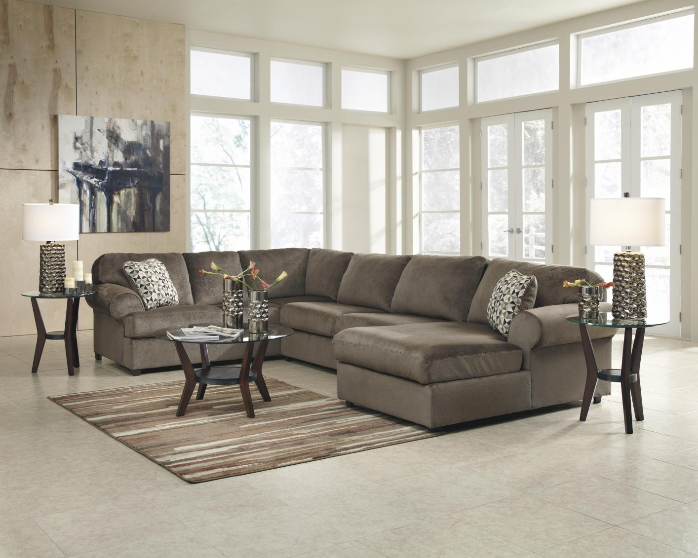 Beige Fabric Sectional Sofa – Steal A Sofa Furniture Regarding Los Angeles Sectional Sofas (View 4 of 15)