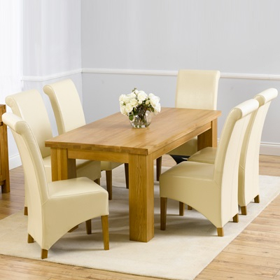 Belgravia Solid Oak 180Cm Dining Table With 6 Bromley Within Best And Newest Bromley Oak Tv Stands (View 10 of 15)