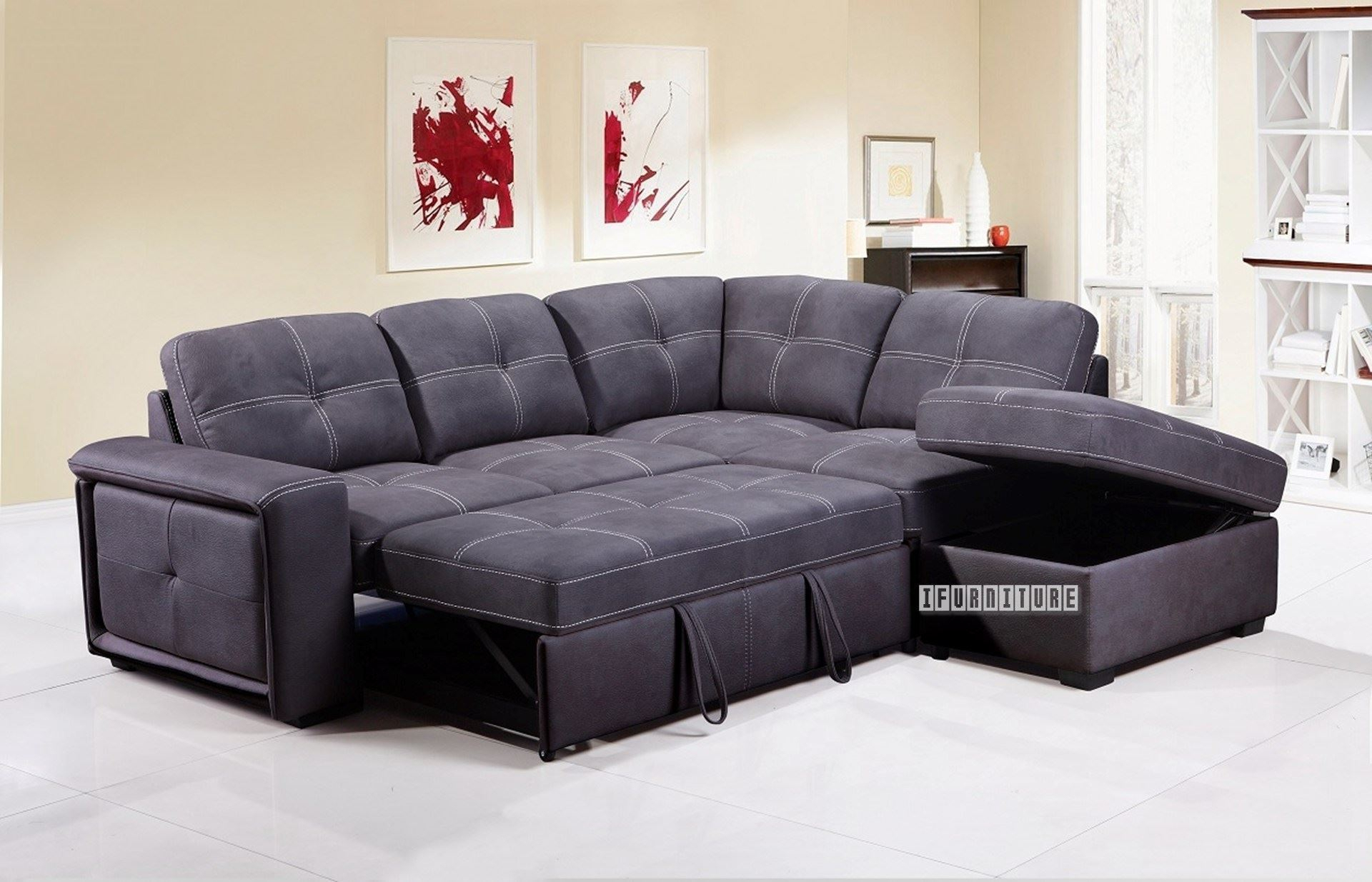 Bellini Sectional Sofa Bed With Storage *Grey With Sectional Sofas With Storage (View 3 of 15)