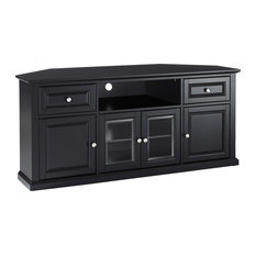 Best And Newest Bromley Oak Corner Tv Stands Pertaining To 50 Most Popular Transitional Black Entertainment Centers (View 7 of 15)