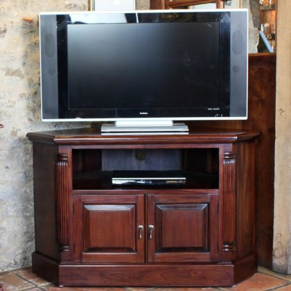 Best And Newest Carbon Extra Wide Tv Unit Stands Regarding Georgian Corner Television Cabinet (Mahogany)  (View 1 of 15)