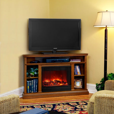Best And Newest Cornet Tv Stands With Regard To Top 5 Corner Electric Fireplace Tv Stands Under $ (View 10 of 15)