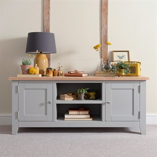 Best And Newest Cotswold Widescreen Tv Unit Stands With Solid Wood Oak, Pine & Painted Tv Stands & Tv Units – The (View 11 of 15)
