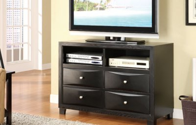Best And Newest High Glass Modern Entertainment Tv Stands For Living Room Bedroom Pertaining To Dark Cappuccino Contemporary Tv Stand W/Storage Drawers (View 7 of 15)