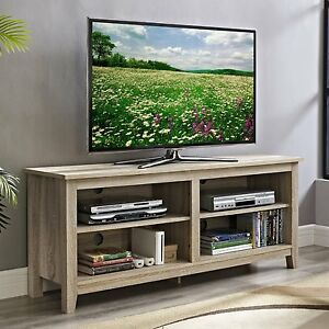 """Best And Newest Margulies Tv Stands For Tvs Up To 60"""" Regarding Natural Wood Tv Stand Fits 60 Inch Tv Entertainment (View 8 of 15)"""