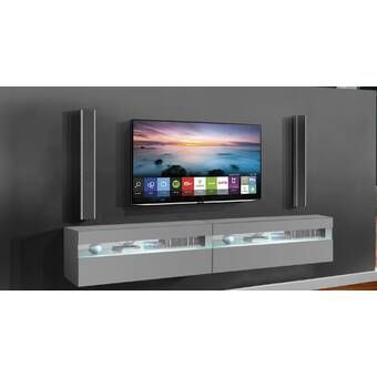 """Best And Newest Margulies Tv Stands For Tvs Up To 60"""" With Wade Logan Julius Floating Entertainment Center For Tvs Up (View 13 of 15)"""