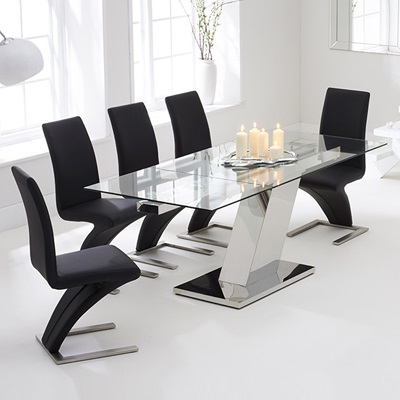 Best And Newest Milan Glass Tv Stands Throughout Lemar Glass Extending Dining Table – Robson Furniture (View 9 of 15)