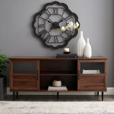 """Best And Newest Neilsen Tv Stands For Tvs Up To 65"""" Regarding Gracie Oaks Grossi Tv Stand For Tvs Up To 65"""" Color: Slate (View 12 of 15)"""