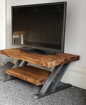 Best And Newest Owen Retro Tv Unit Stands Inside Rustic Oak Tv Stand Unit Cabinet Metal Z Frame Design (View 12 of 15)