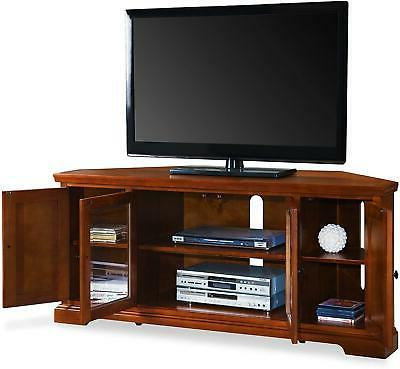 Best And Newest Priya Corner Tv Stands In Leick Westwood Corner Tv Stand, 60 Inch, Cherry Hardwood (View 1 of 15)