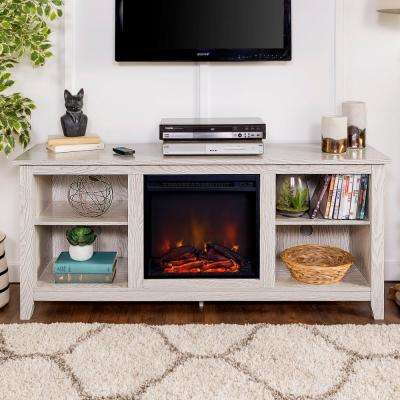 """Best And Newest Rustic White Tv Stands Inside Walker Edison Furniture Company 58"""" Traditional Rustic (View 4 of 15)"""