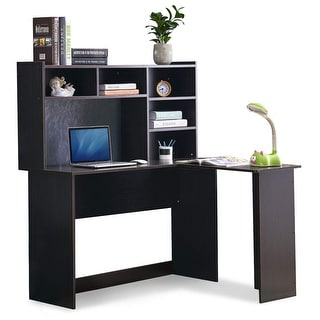 Best And Newest Space Saving Gaming Storage Tv Stands With Regard To Shop Mcombo Modern Computer Desk With Hutch L Shaped (View 3 of 12)