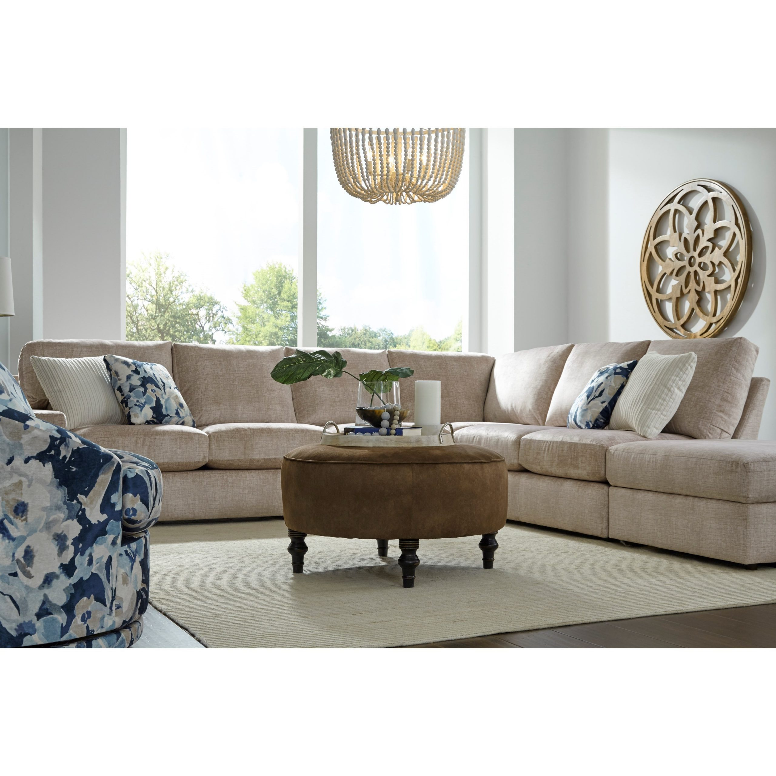 Best Home Furnishings Dovely Casual Five Seat Sectional Inside Copenhagen Reversible Small Space Sectional Sofas With Storage (View 3 of 15)