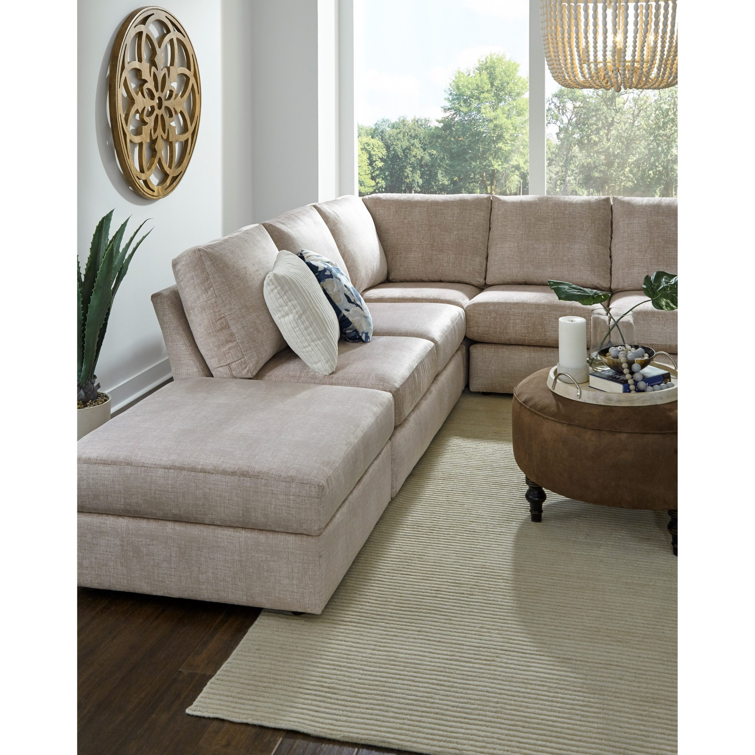 Best Home Furnishings Dovely Five Seat Sectional Sofa With Regarding Copenhagen Reversible Small Space Sectional Sofas With Storage (View 1 of 15)