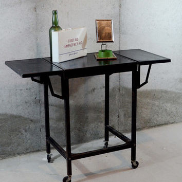 Best Metal Rolling Cart Products On Wanelo Regarding 2018 Modern Black Tv Stands On Wheels With Metal Cart (View 2 of 15)