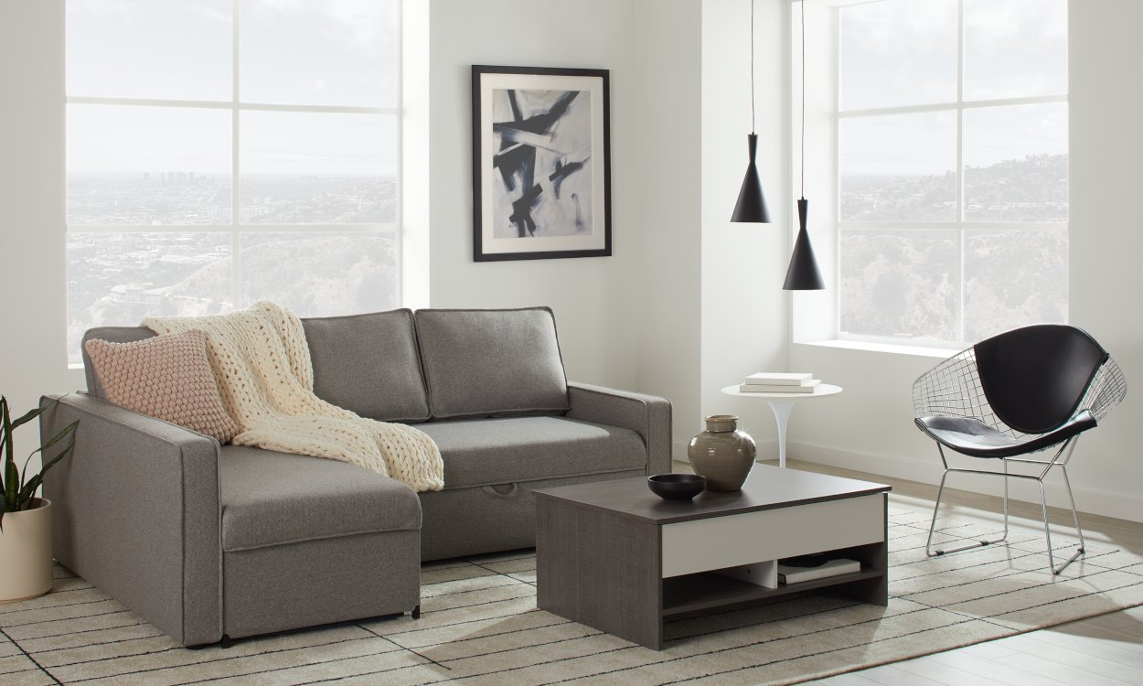 Best Sleeper Sectional Sofa For Small Spaces 2020 With Palisades Reversible Small Space Sectional Sofas With Storage (View 7 of 15)