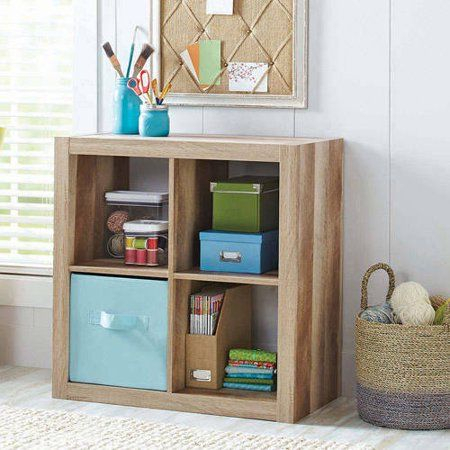 Better Homes & Gardens Square 4 Cube Organizer, Espresso Throughout Recent Mainstays 4 Cube Tv Stands In Multiple Finishes (View 8 of 15)