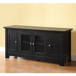 Black Wood 52 Inch Tv Stand – Overstock™ Shopping – Great Intended For Newest Walker Edison Wood Tv Media Storage Stands In Black (View 2 of 15)