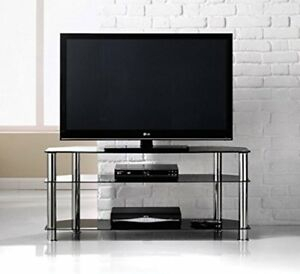 Blaupunkt Chrome And Glass Tv Stand (View 14 of 15)
