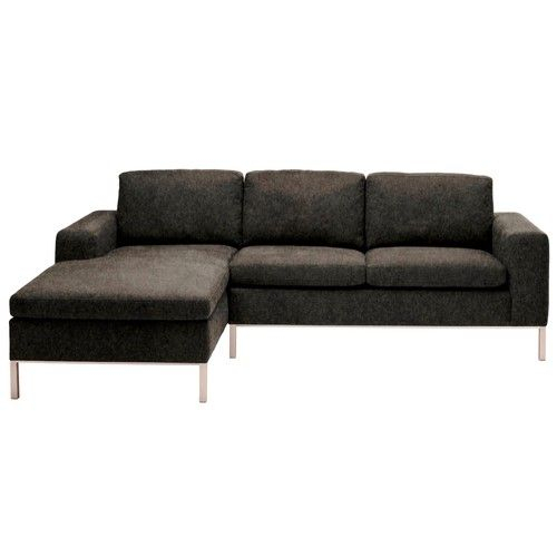 Blu Dot Standard Sectional, Right/Stone | Sectional Sofa Regarding Dulce Right Sectional Sofas Twill Stone (View 9 of 15)