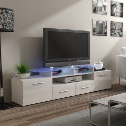 Bmf Evora White Tv Stand 194Cm Wide White High Gloss Led Inside Well Known Zimtown Tv Stands With High Gloss Led Lights (View 9 of 15)