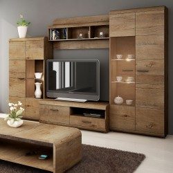 Bmf Lena 10 Tv Stand 120Cm Wide Lefkas Oak Drawer Shelf Throughout Most Recently Released Single Shelf Tv Stands (View 8 of 15)